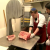 James Corden takes a shift at the kosher butcher