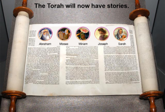 The Torah will now have stories