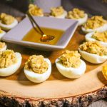 Sweet Apples and Honey Deviled Eggs