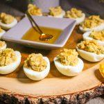 Sweet Apples and Honey Deviled Eggs