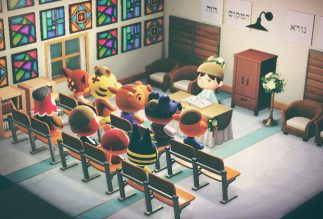 We built a synagogue inside Animal Crossing